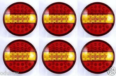 6x 24V LED Hamburger Rear Tail Lights TRUCK TRACTOR LORRY CHASSIS TRAILER TIPPER