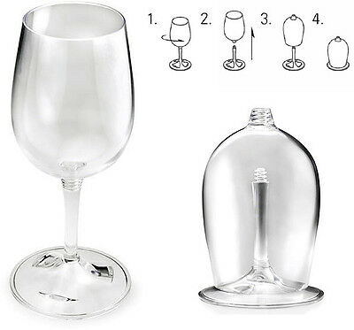 GSI Outdoors Lightweight Nesting Wine Glass (White or Red) For Camping, Picnic