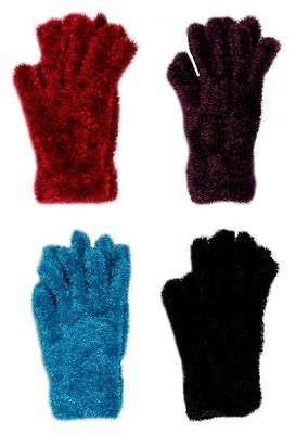 LADIES Feather Gloves Super Soft Girls Winter Clothing Thermal FREE POST