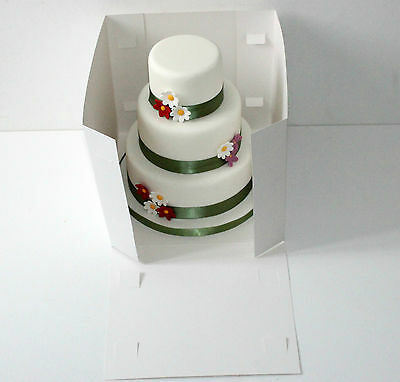 "14"" Tall Cake Boxes- Tiered stacked cakes Giant Cupcakes with Clear Window"