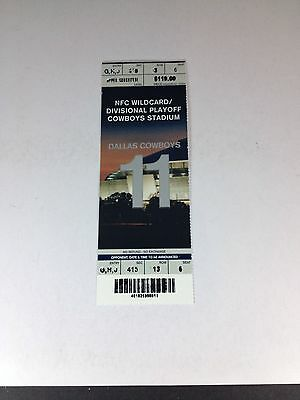 Dallas Cowboys NFC Wildcard/Divisional Playoff Ticket Cowvoys vs Eagles 1/10/10