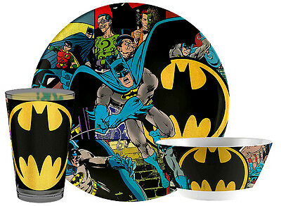 Batman-3Pc. Melamine Plate, Bowl & Cup Set