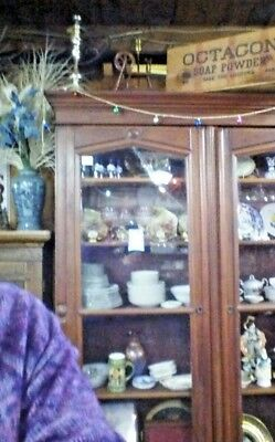 Vintage Victorian Bookcase or Display Cabinet