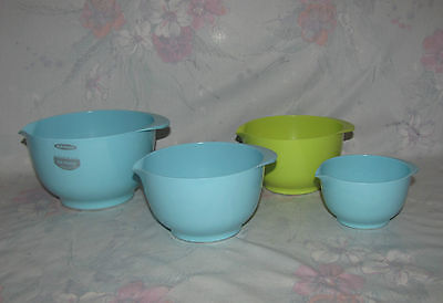 Rosti Denmark Small Bowl Set of 4 - Light Baby Blue, Green 500 350 150 mL Sizes