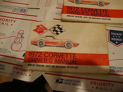 1972 2nd.  EDITION  CORVETTE OWNERS MANUAL #68