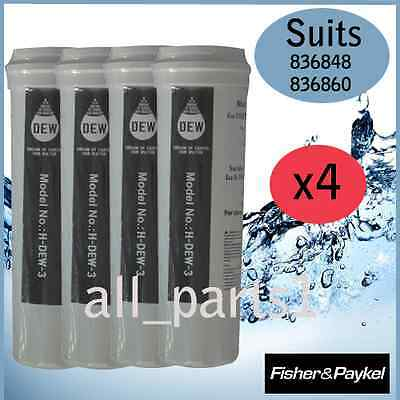 4 X Fisher & Paykel Fridge 836848, 836860 Quality Replacement Water Filter • AUD 108.00