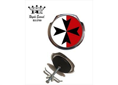 Royale Car Grill Badge + Fittings - MALTA MALTESE CROSS B2.2769