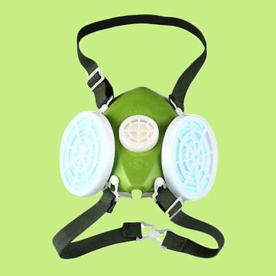 Dual Respirator Gas Mask Anti-Dust Twin Chemical Spray Paint Safety Headwear GT