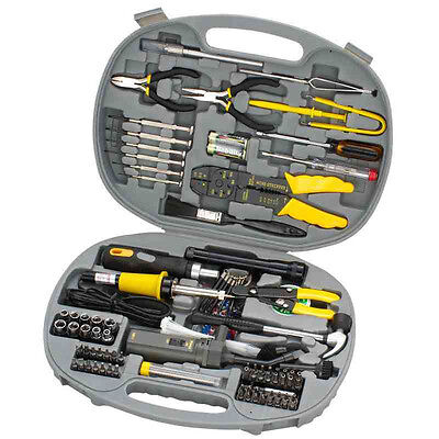 145 Piece Computer Repair / Maintenance Tool Kit In Durable Tough Storage Case