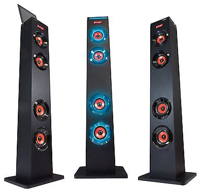 Psyc Torre Xl Led Wireless Bluetooth Fm Tower Speaker Stand For Phones & Tablets