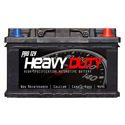 PROFESSIONAL HEAVY DUTY 096L 72ah 680cca 4Yr GUARANTEE Car Battery