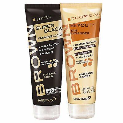 "Tannymaxx Brown ""Super Black Tanning Lotion + Tropical Beyouty After Sun"" 125 ml"