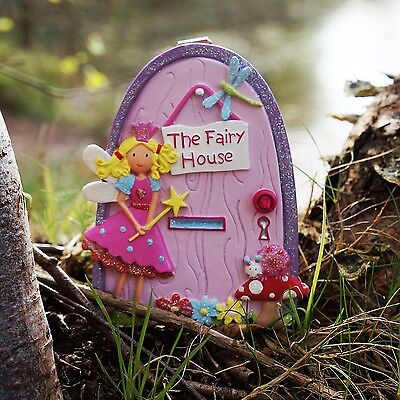 Magical fairy door cream silver pinks white lock key for Tinkerbell fairy door