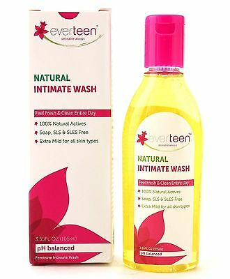 Everteen Natural Intimate Wash Feel Fresh & Clean Entire Day- 105 ML