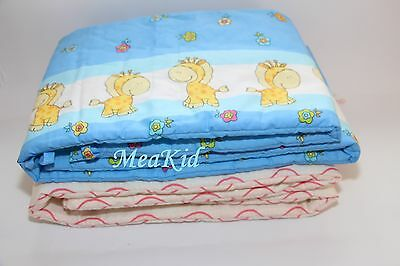 COT BUMPER 100% COTTON PADDED FOR BABY FIT COT 120x60(180x30cm)  STRAIGHT