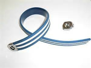 Biemme Replica Seat Strap - Blue & White Stripes - Coool