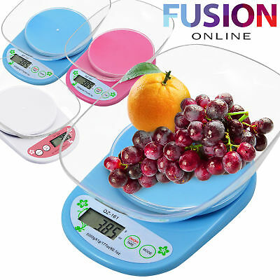 5 Kg Digital Kitchen Scale Lcd Electronic Cooking Food Measuring Bowl Scale Uk