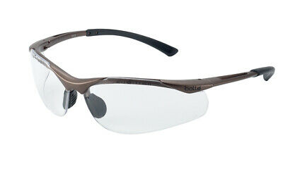 Bolle Contour CONTPSI Safety Glasses - Clear Lens + Microfibre Pouch Case