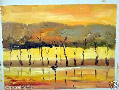 Stylish young artwork, modern sceneries, textured oil painting, nice home decor.