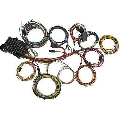 21 Circuit Universal Wiring Harness / Loom - Eazy Wiring Suit Hot Rod, Rat Rod