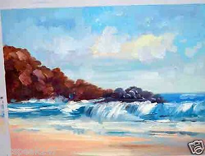 Original Oil Painting, charming ocean scenery, rich and classy home decor.