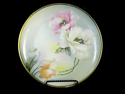 Vintage Royal Munich Z.S. & Co. Hand Painted Moriage Poppy Decorative Plate