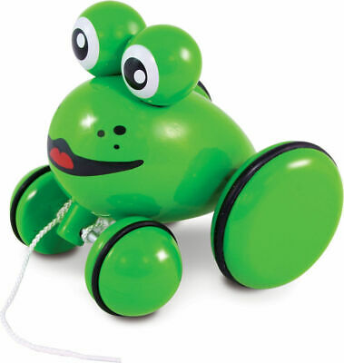 Youpla The Frog Pull Toy by Vilac | Kids Childrens Toddler Push Pull NEW