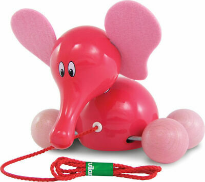 Fanfan The Elephant Pull Toy by Vilac | Kids Childrens Toddler Push Pull