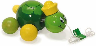 Caroline The Turtle Pull Toy by Vilac | Kids Childrens Toddler Push Pull NEW