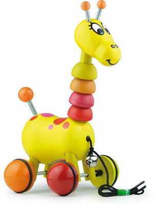 Paf The Giraffe Pull Toy by Vilac | Kids Childrens Toddler Push Pull NEW