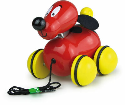 Fripoulle The Pull Along Dog by Vilac | Kids Childrens Toddler Push Pull NEW