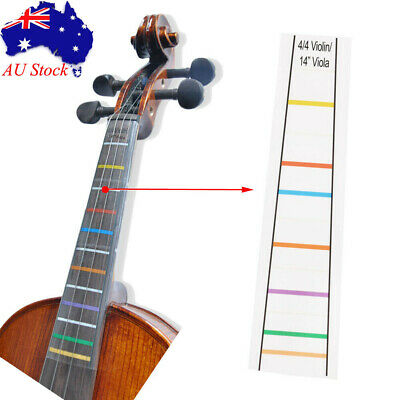 4/4 Violin Fretboard Note Sticker Fingerboard Practice Position Decal Stickers