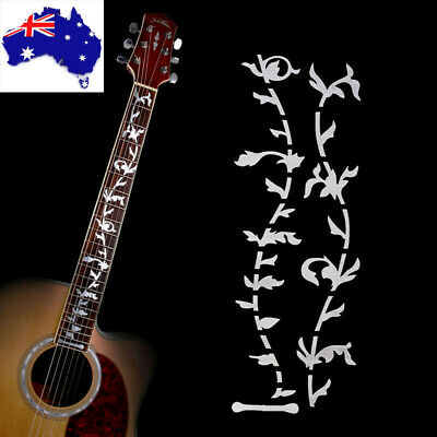 Tree Of Life Guitar Bass Fretboard Inlay Sticker Neck Fret Decals Silver AU Ship