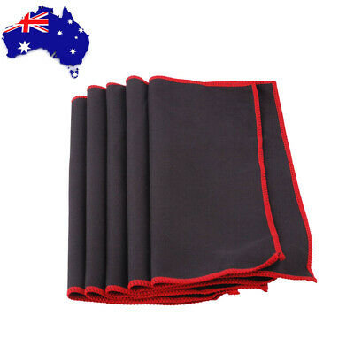 5Pcs Guitar Bass Cleaning Cloth Micro fibre Instruments Polish Cloth Cleaner NEW