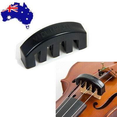 Violin Practice Mute Rubber Fiddle Mute Silencer for 1/2 3/4 4/4 Violin Black