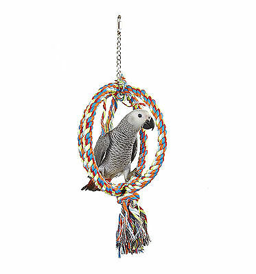SK Large Sphere Rope Parrot Toy Swing For Climbing