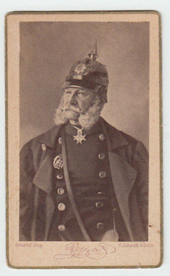 Cdv- Guglielmo I Imperatore Di Germania E Re Di Prussia By F. Jamrath & Sohn