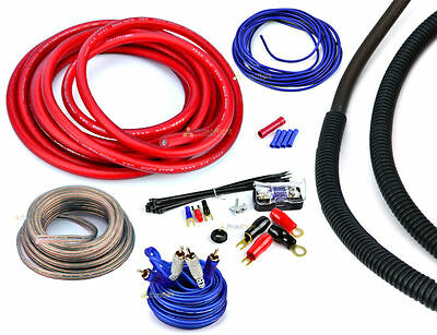 4 Gauge 2000 Watt Car Amplifier Installation Wiring Kit