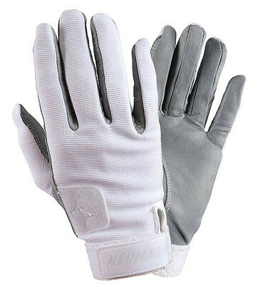 Neumann Tackified Leather Summer Riding Gloves - White - All Sizes