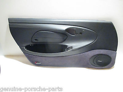 Genuine Porsche 986 Boxster N/s Door Card In Metropole Blue Leather - Used