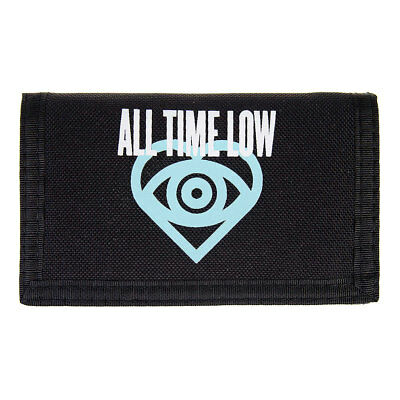 All Time Low Portefeuille Noir Uni Basique Imprimé Logo Groupe ATL Officiel Ado