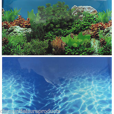 "19""/49cm Aquarium Background Water Ripples/Planted Fish Tank #H"