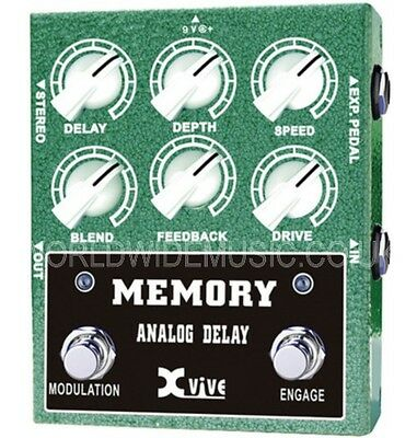 XVive W3 Memory Analog Delay Effects Pedal Stomp Box - Engineered for Musicians