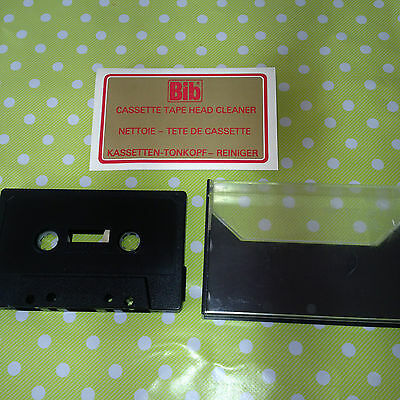 Vintage Bib Cassette Tape Head Cleaner Ref 31 Made In England Rare Collectable