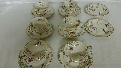 Castleton China Sunnyvale Set of 6 Cups and 8 saucers