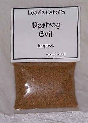 Destroy Evil Incense By Laurie Cabot ~ Witchcraft