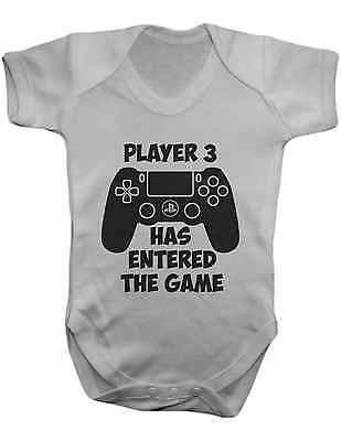 Player 3 Has Entered the Game , Bodysuit,Vest,Baby Grow,Romper,Gift,100% Cotton