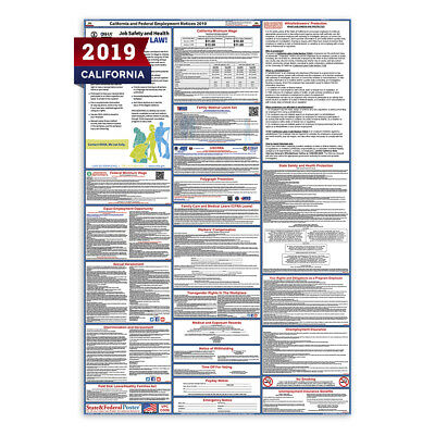 2019 California and Federal Labor Law Poster (LAMINATED)