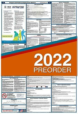 2018 Oregon State and Federal Labor Law Poster - LAMINATED