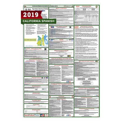 2018 SPANISH California State and Federal Labor Law Poster (Laminated)